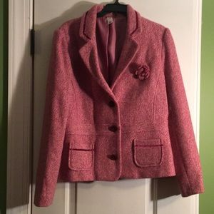 Pink tweed blazer from Old Navy